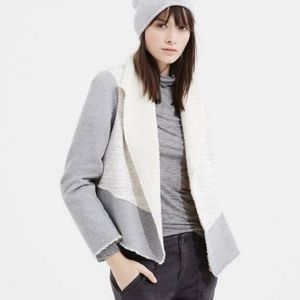 Lou & Grey Sherpa open front sweater small